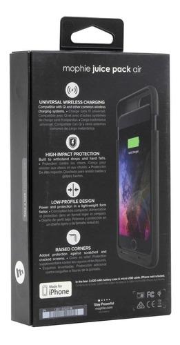 mophie power case bateria cargador @ iphone 7 8 plus 2420mah