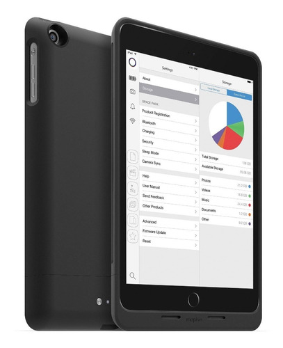 mophie space pack para ipad mini 2/3 64gb - negro