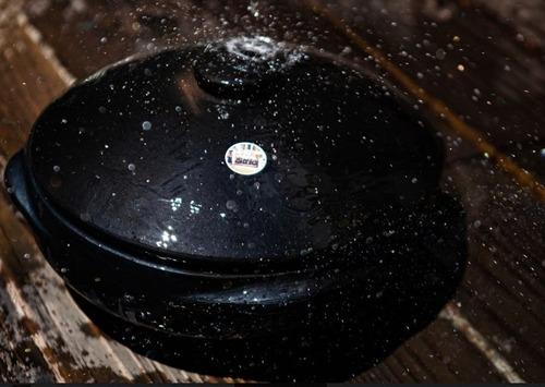 moqueca de barro capixaba nº 6, rasa, original 31,5x09cm