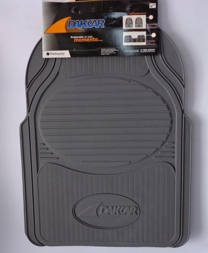 moquetas dakar juego 3 piez gruesa gris y negra sobreruedas