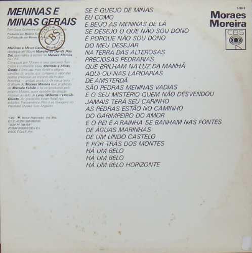 moraes moreira maxi single vinil meninas e minas gerais 1984