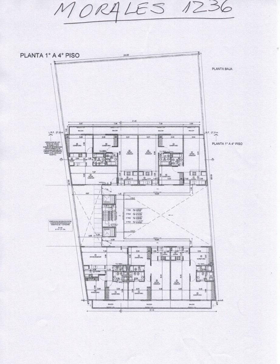 morales al 1200 4 piso g tigre 2 ambientes con financiación
