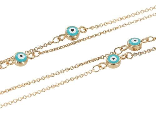 morana | colar longo olho grego banho em ouro