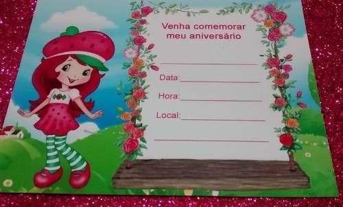 moranguinho convite aniversario c/30 n