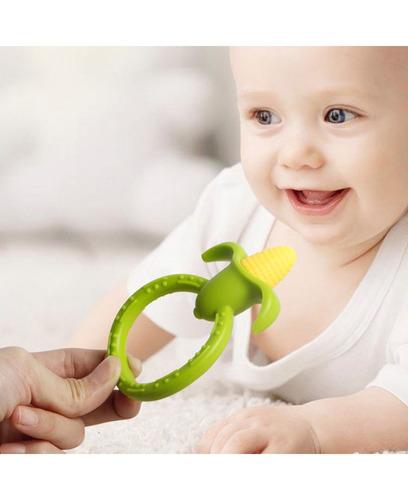mordedor anillo maíz estimula, alivia encias dientes bebé lb
