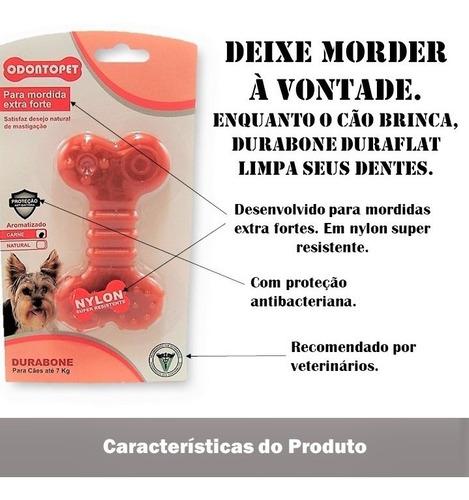 mordedor cachorro pequeno durabone duraflat nylon mordida extraforte até 7 kg