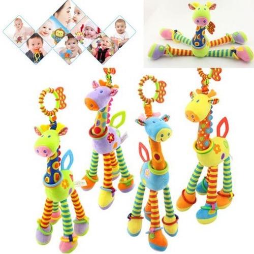 mordedor chocalho móbile brinquedo girafa bebê sensorial