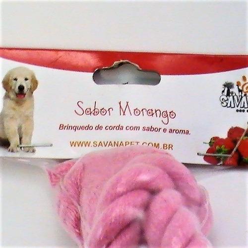 mordedor p/ cachorro osso de corda c/ sabor e aroma savana