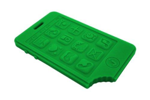 mordedores,jchew smartphone silicona teether (verde hier..