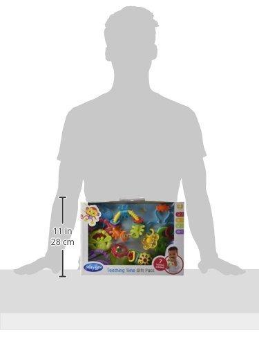 mordedores,playgro 4085429 paquete de regalo de 4 piezas..