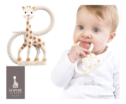 mordillo caucho natural jirafa sofia sophie la girafe