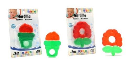 mordillo para bebés rojo y verde - baby innovation