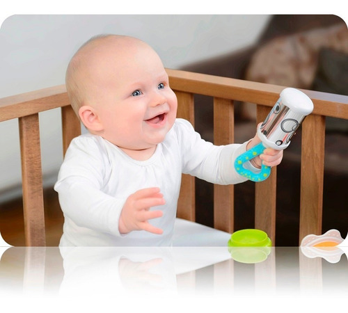 mordillo sonajero bebé con espejo kidsme