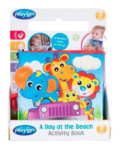 mordillo un libro de actividades en la playa playgro