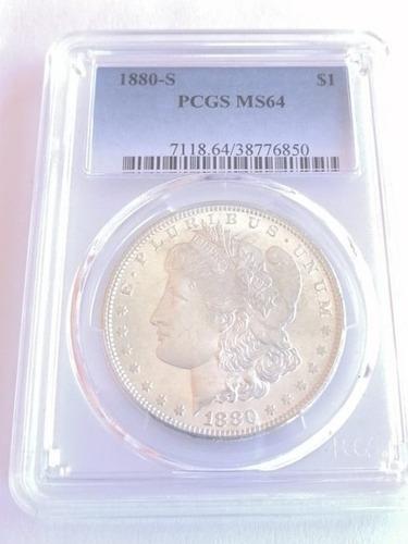 morgan 1$ dollar año 1880-s cert. pcgs ms64
