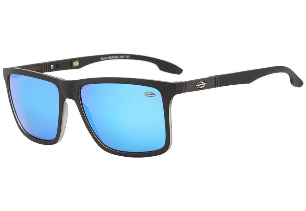 1a3676d2c088c mormaii kona - óculos de sol preto fosco  azul espelhado. Carregando zoom.