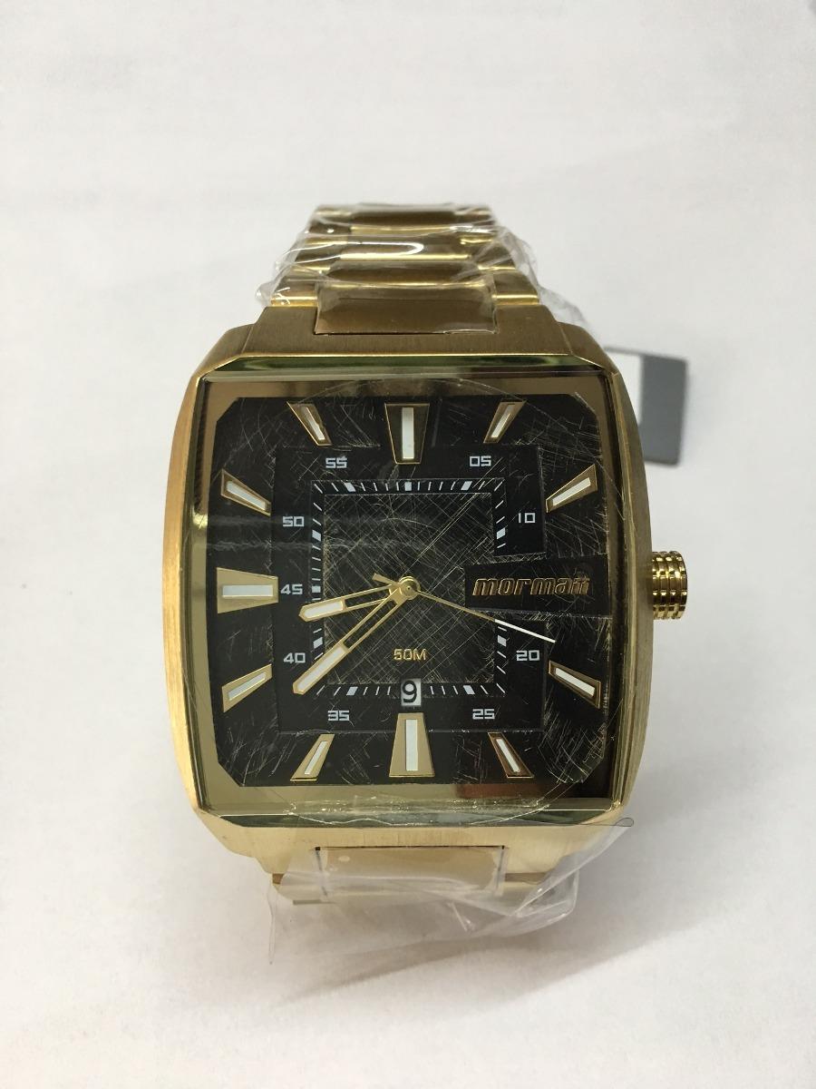Carregando zoom... relógio mormaii masculino mo2315am 3p dourado extra  grande f32b07795a