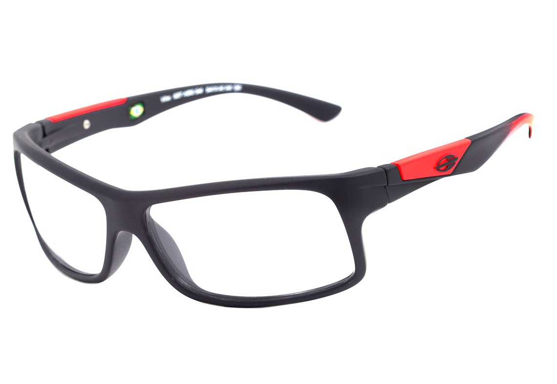 75a0f540d4f08 mormaii vibe - óculos de grau preto e vermelho fosco -. Carregando zoom.