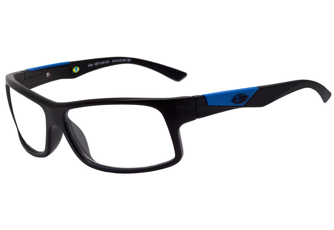 ffa4b5f01d6c3 mormaii vibe - óculos de grau preto fosco e azul - lente. Carregando zoom.