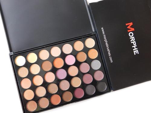 morphe 35w warm paleta sombras 35 tonos promo