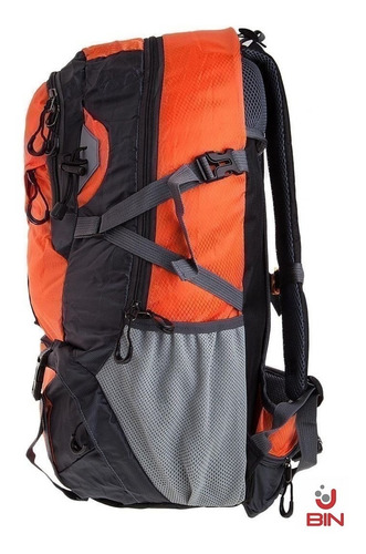 morral camping montañismo bin outdoor naranja 40 litros 6909