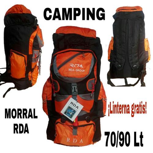 morral camping rda 70/90 litr viajes mochileros