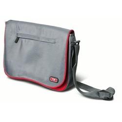 morral cartera para netbook 10 a 12 gris y rojo