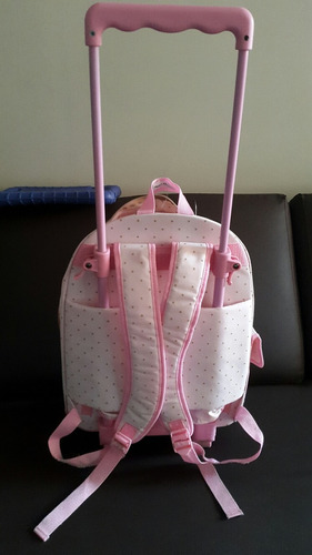 morral con ruedas hello kitty