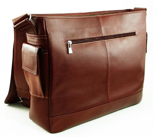 morral cuero maletin portafolio porta notebook fabricante!!!