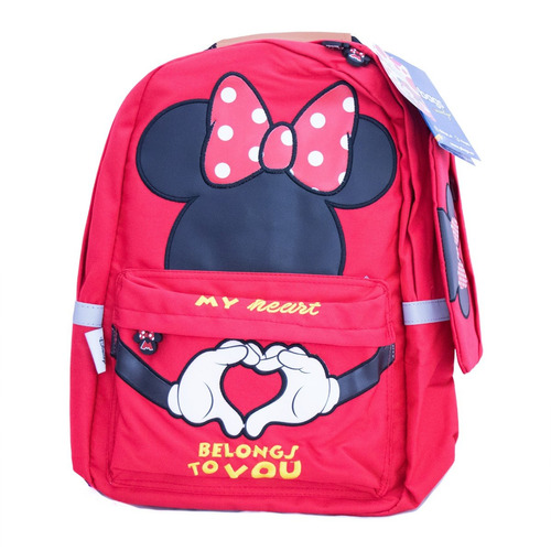 morral juvenil + cartuchera estampados minnie 1911-1912