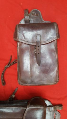 morral maleta alforja de moto cuero