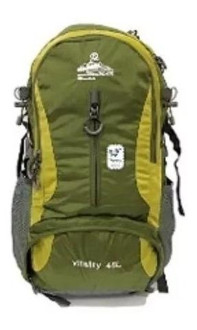morral maleta camping 45 - 55 litros con cobertor de lluvia