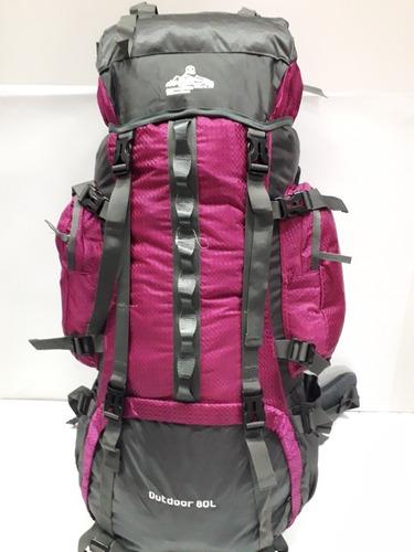 morral maleta camping smar 80-90 litros