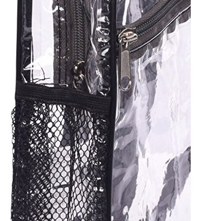 morral maleta seguridad transparente de vinilo de bags f