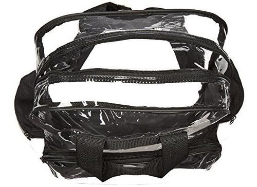 morral maleta  transparente con plástico suave completamente