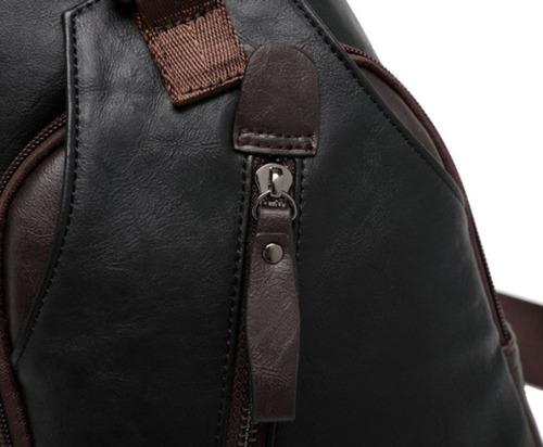 morral mochila canguro crossbody cuero importado elegante