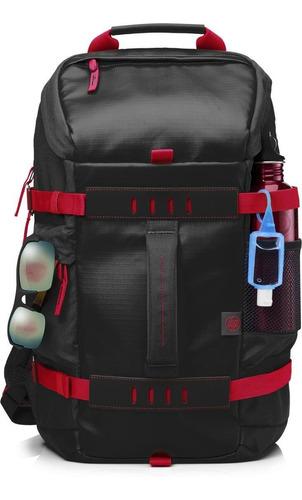 morral portatil hp odyssey negro con rojo 15.6 x0r83aa