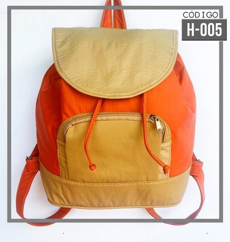 morrales bolsos backpacks mochilas semicuero damas carteras