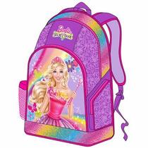 Morral Bolso Grande Barbie Escolar Disney Original