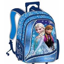 Morral Grande Con Ruedas Frozen 3d