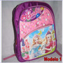 Bolso Morral Barbie Cars Niñas Niños Colegio 40x35 Clases