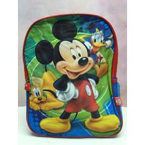 Mochila Morral Bolso Escolar Disney Mickey Minnie