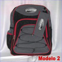 Bolso Morral + Cartuchera Colegio Niños Niñas Sportpak 30x38