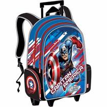 Morral Grande Con Ruedas 3d Avenger Assemble Capitan America