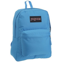 Morral Jansport Negro Label Superbreak Sueco Azul Digi Plai