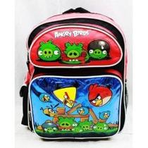 Morral Angry Birds Large 16 \mochila - Metálico Azul Con Ta
