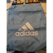 Morral Adidas- Made In Usa - Reversible Azul Y Gris