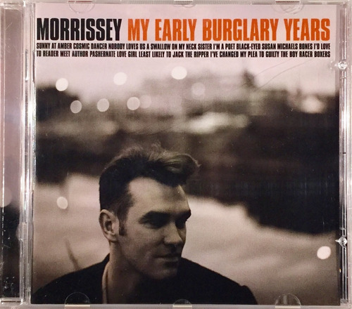 morrissey - my early burglary years - cd importado lacrado