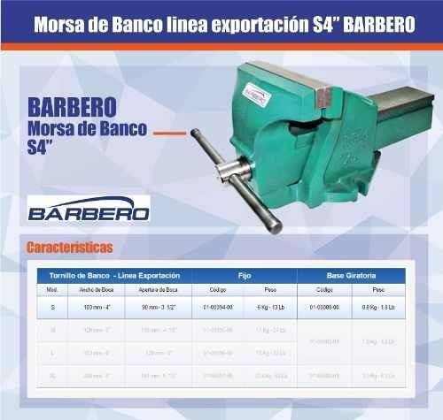 morsa de banco exportacion barbero nro: s 4