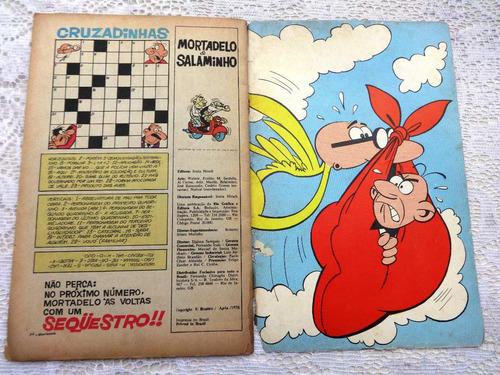 mortadelo e salaminho nº 1 - rio gráfica - 1974 - raridade